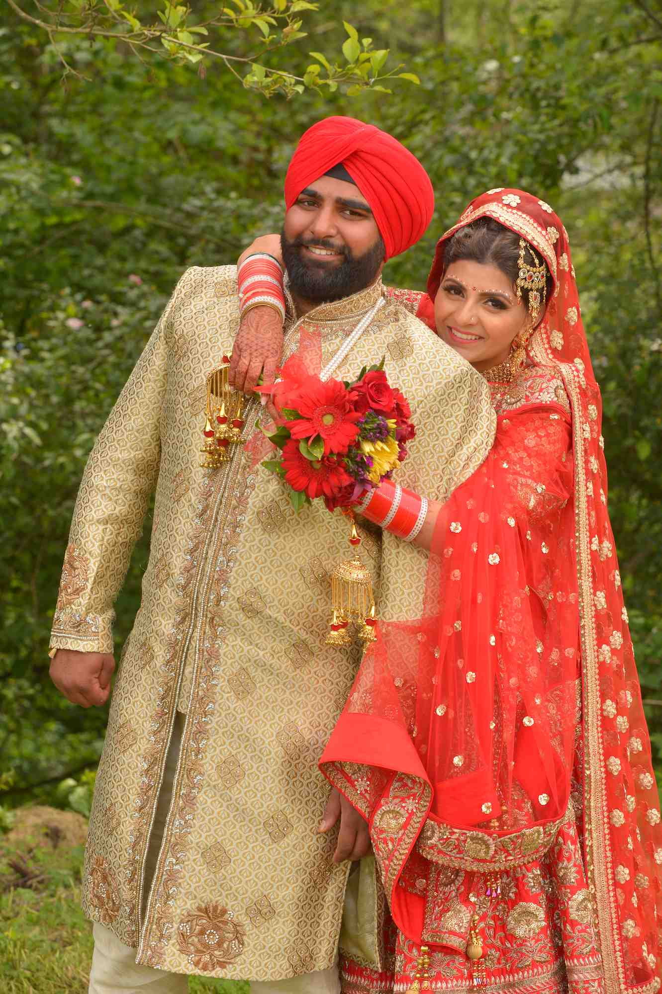 Indian wedding photo w