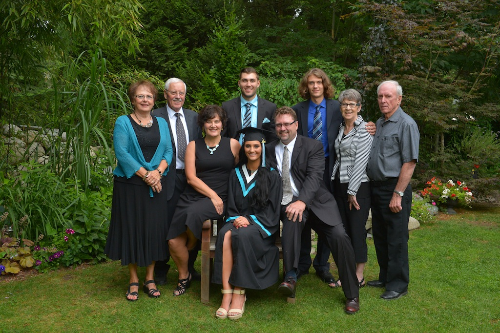 family grad photos