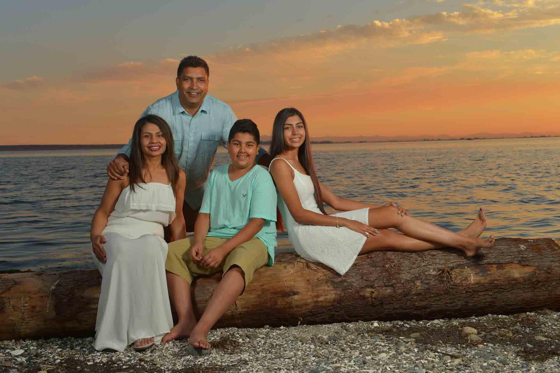 sunset family photos