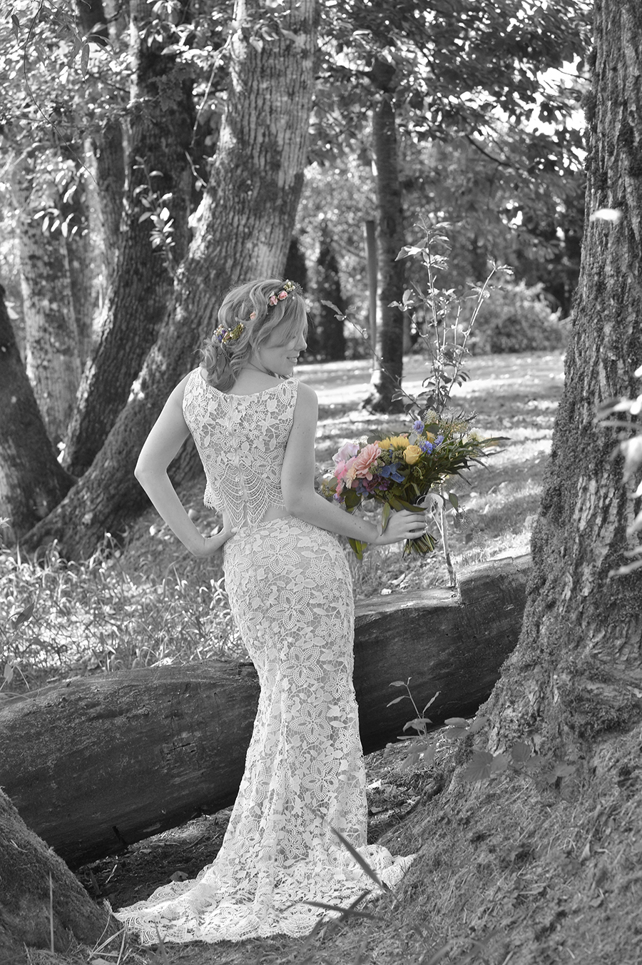back of bride dress