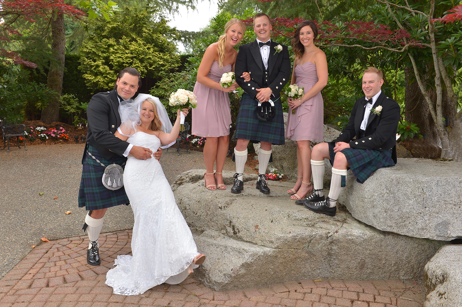 kilt wedding photos
