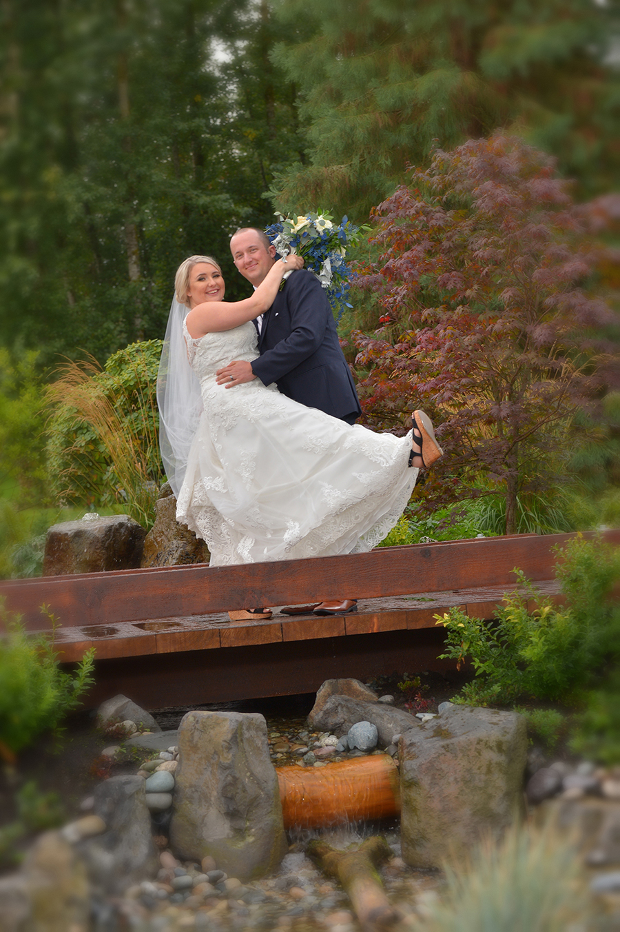 red woods wedding photo