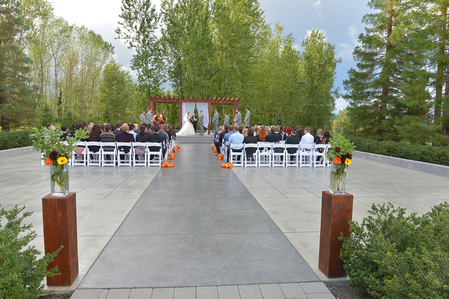 redwoods golf wedding ceremony